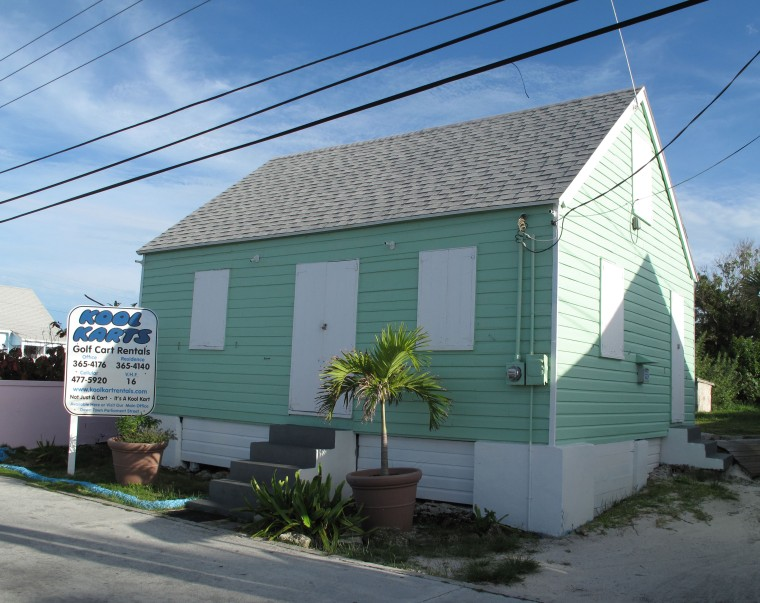 bahamas, abaco, green turtle cay, fish hooks cottage