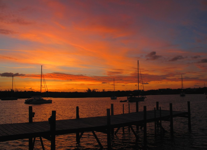 bahamas, abaco, green turtle cay, new plymouth, sunrise