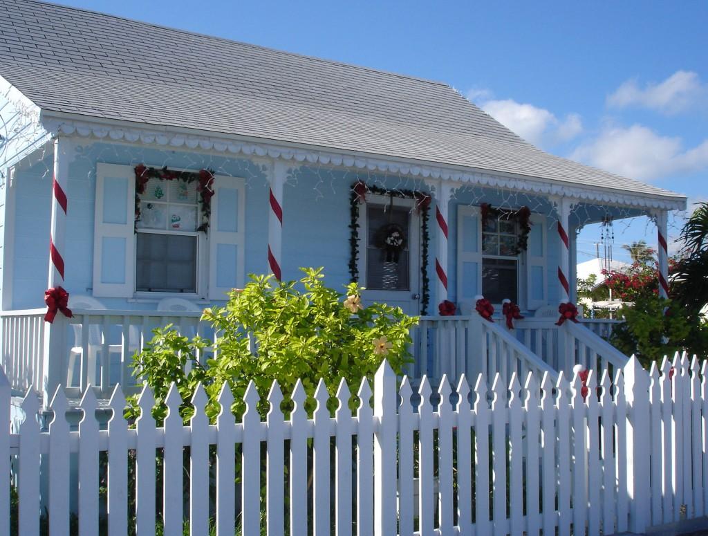 Our front porch inspiration: Mrs. Sybil Hodgkins' house next door.