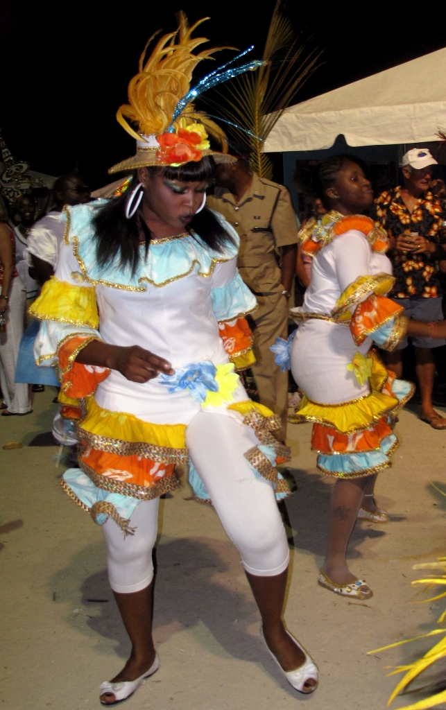 Junkanoo dancers at Island Roots Heritage Festival - Green Turtle Cay, Bahamas