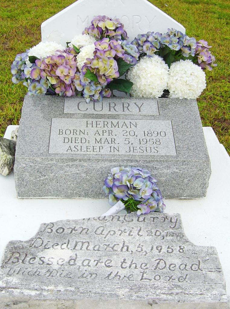 Pa Herman Grave Stone