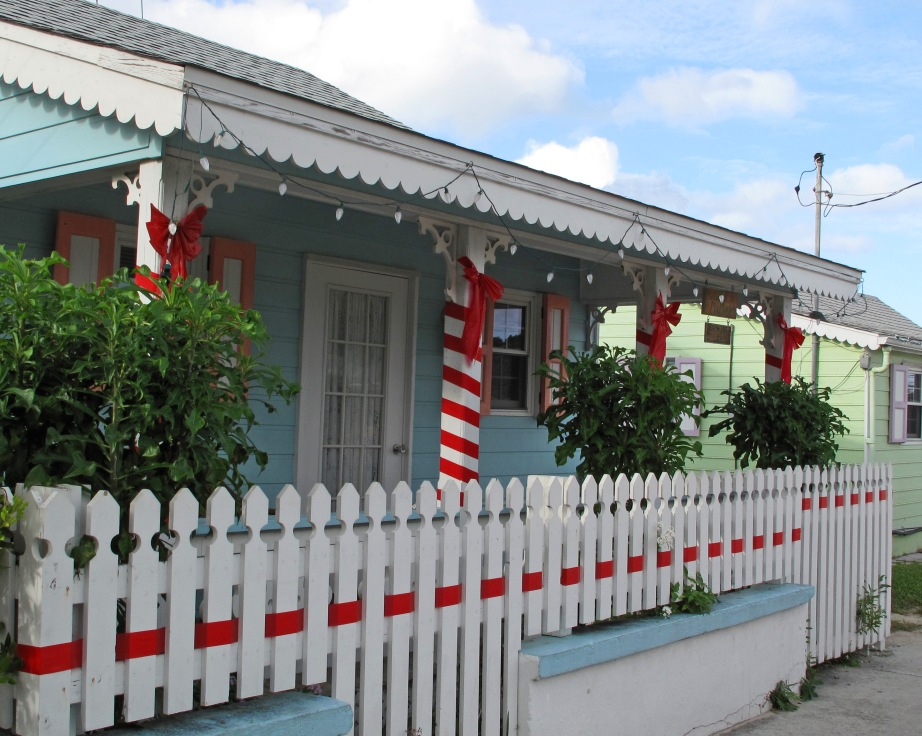 New Plymouth's Ma Masie's Cottage, decorated for the holidays