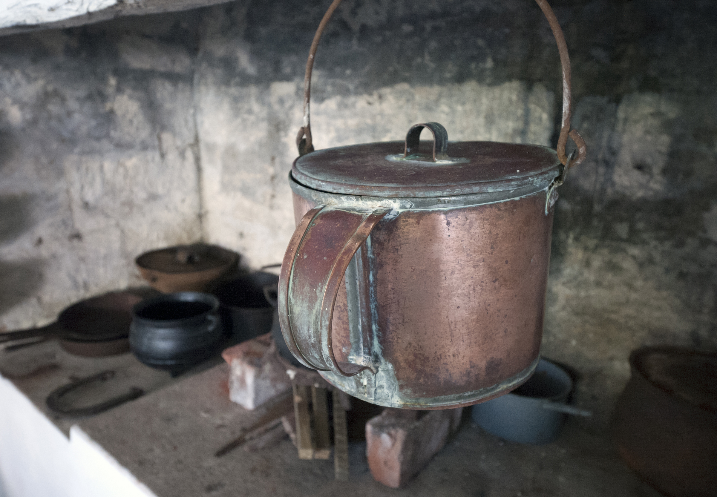 Historic Copper Pot at the Albert Lowe Museum - Green Turtle Cay