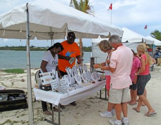 Shopping for Bahamian crafts at the IRHF