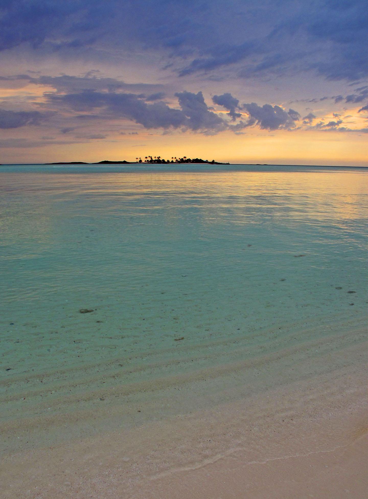 Sunrise over Pelican Cay - Abaco, Bahamas.