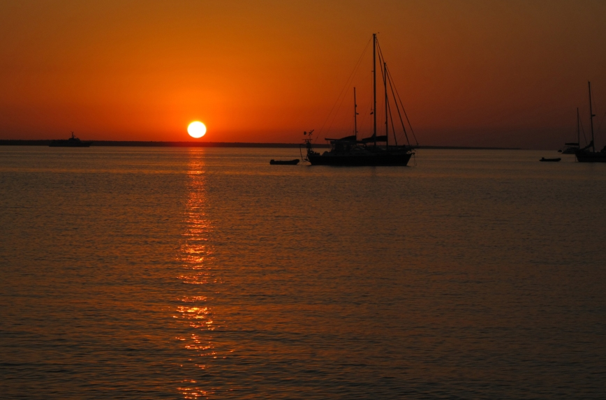 Sunset over the Sea of Abaco - Green Turtle Cay, Abaco, Bahamas.