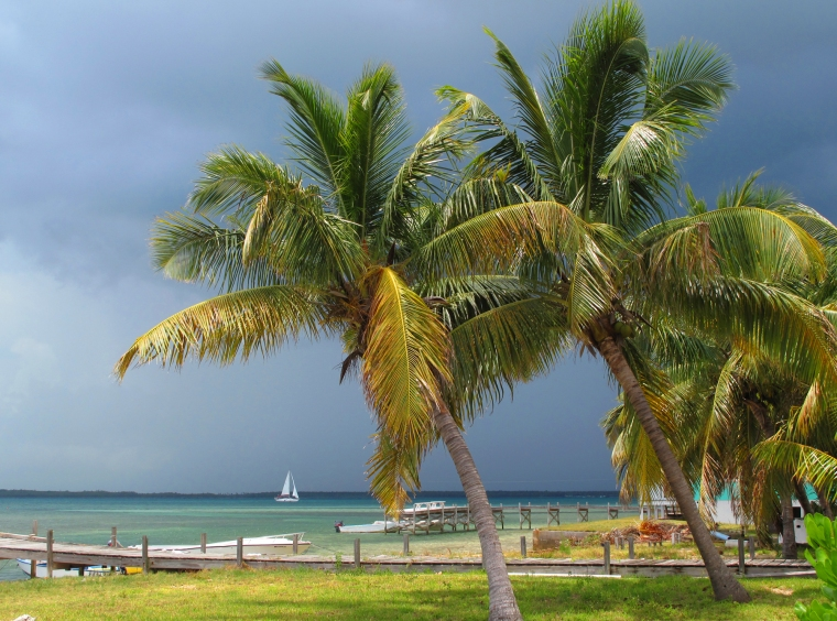 A storm approaches from the southwest - Green Turtle Cay, Bahamas