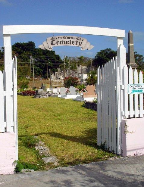 bahamas, abaco, green turtle cay, cemetery