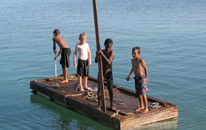 bahamas, abaco, green turtle cay, children, travel