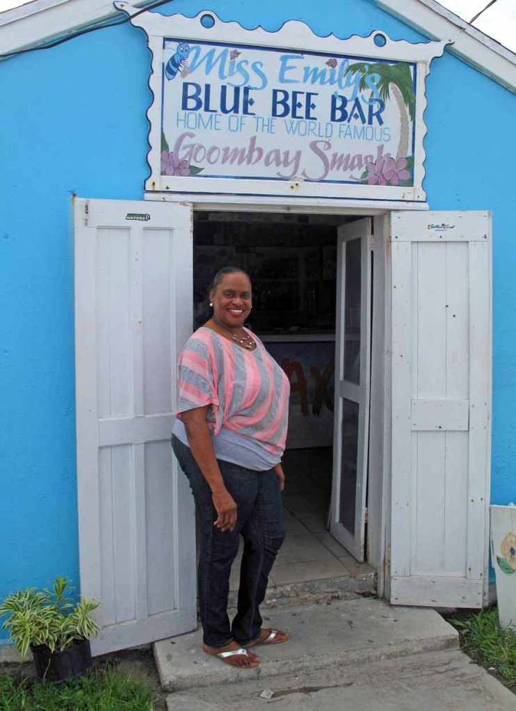 bahamas, abaco, green turtle cay, miss emily's blue bee bar, goombay smash
