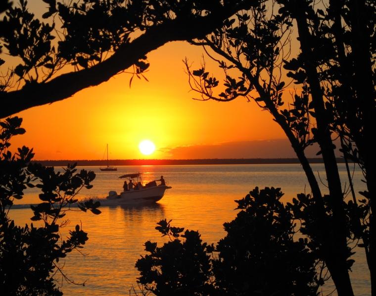 bahamas, sunset, abaco, green turtle cay