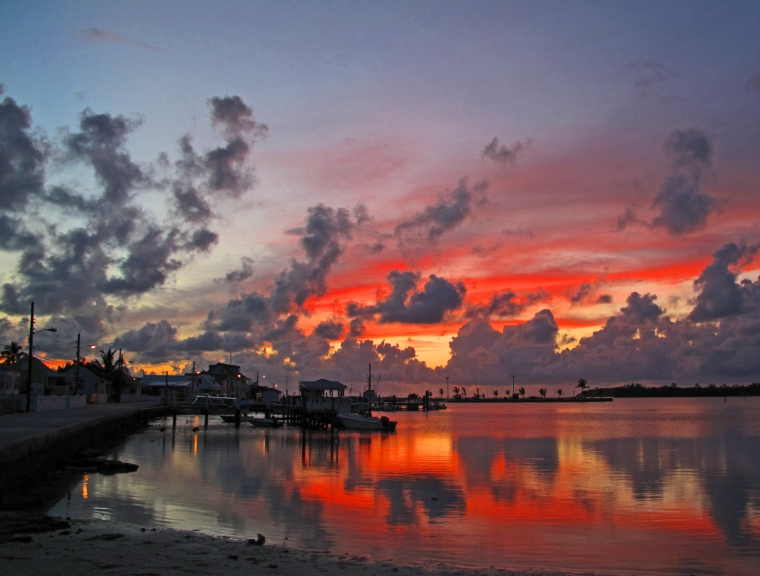 bahamas, sunset, green turtle cay, abaco, bahamas