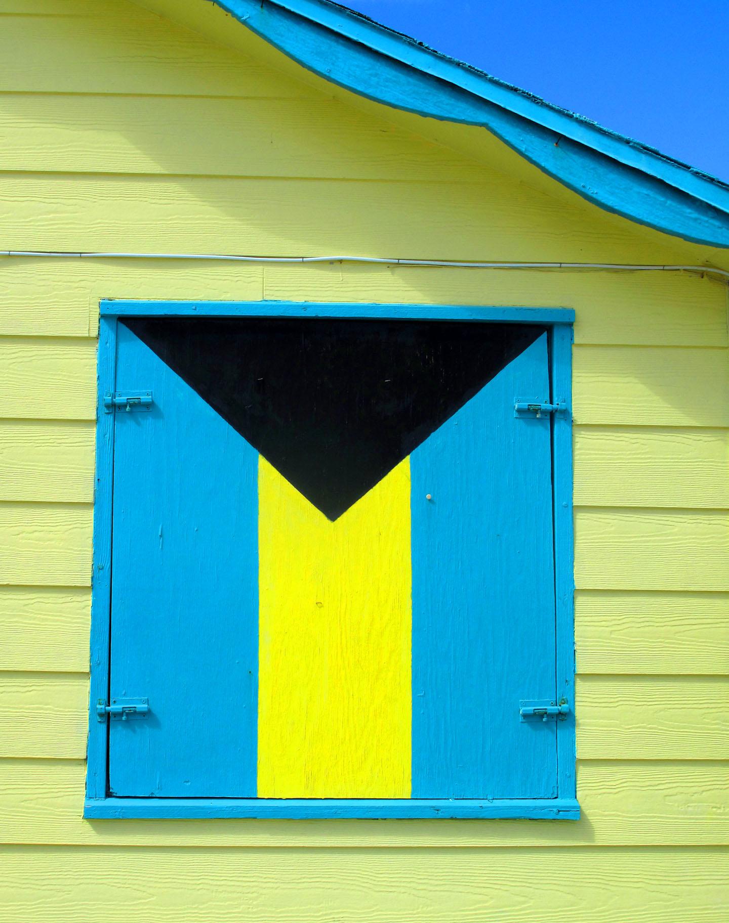 bahamas, green turtle cay, abaco, bahamian flag