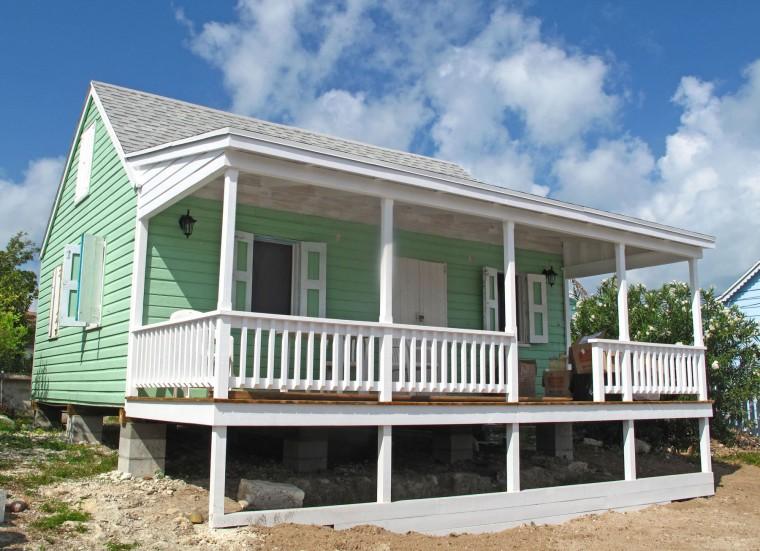bahamas, green turtle cay, abaco, fish hooks cottage, porch