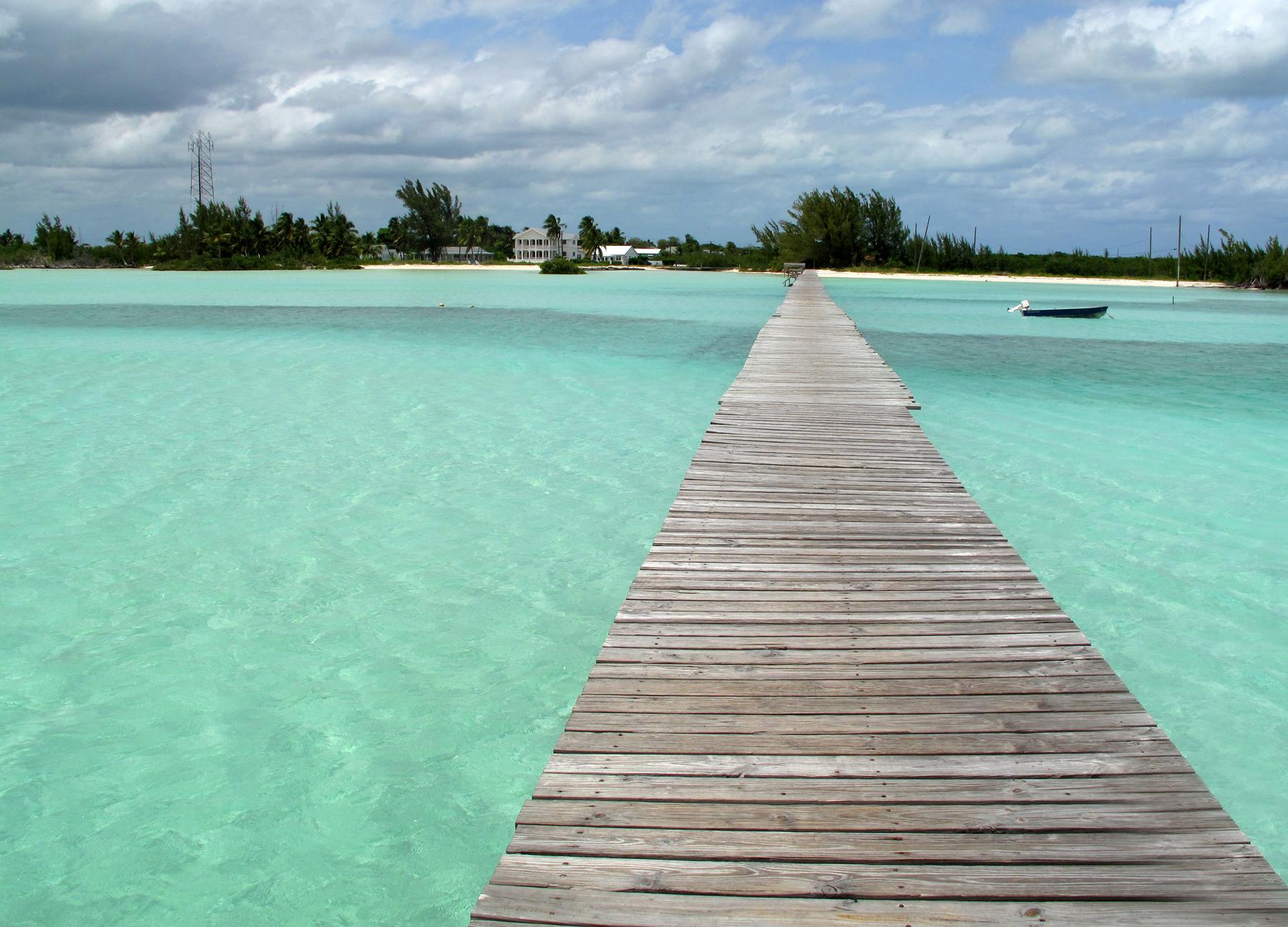 bahamas, abaco, cherokee sound, beach, dock