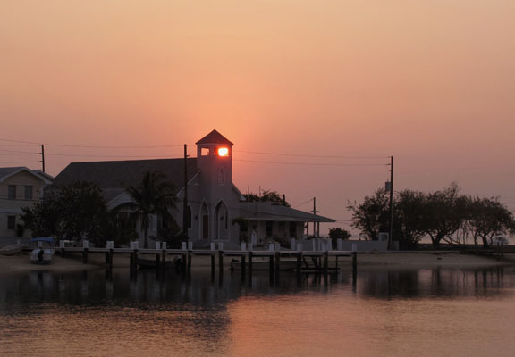 abaco, green turtle cay, bahamas, sunset