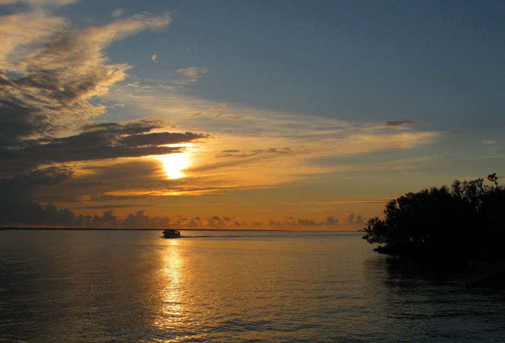 bahamas, abaco, green turtle cay, ferry, sunset