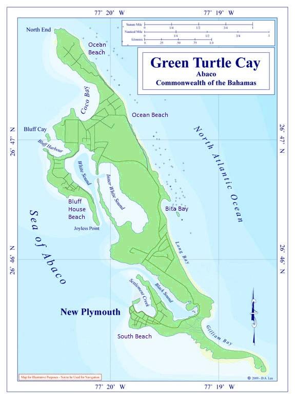 bahamas, abaco, green turtle cay, beach