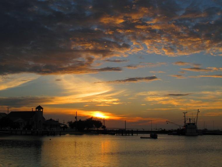 bahams, abaco, green turtle cay, sunset