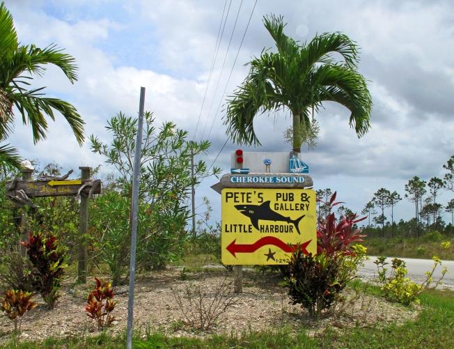bahamas, abaco, cherokee sound, pete's pub