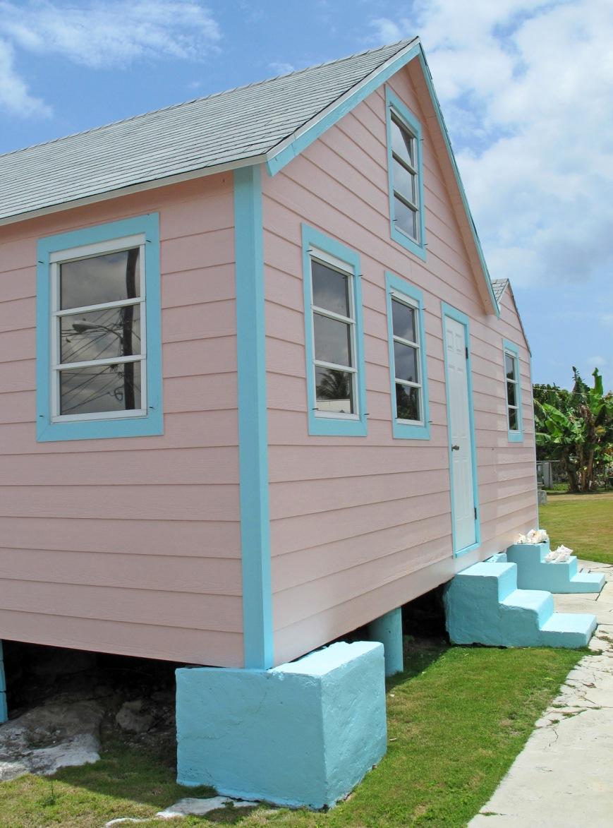 House in Cherokee Sound, Abaco, Bahamas.