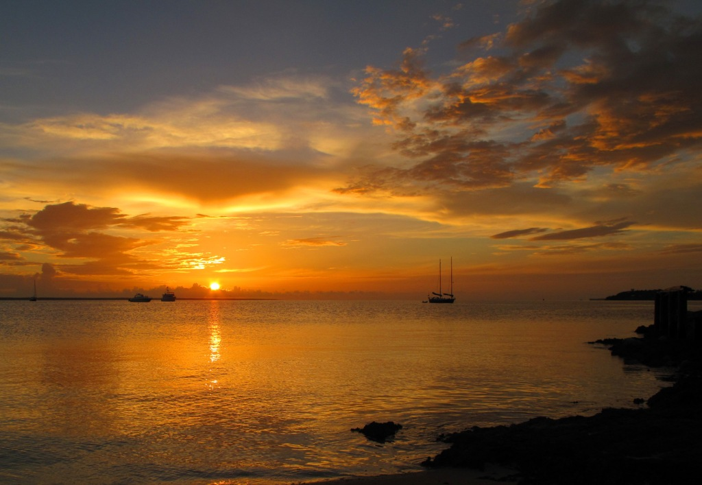 bahamas, abaco, green turtle cay, sunset