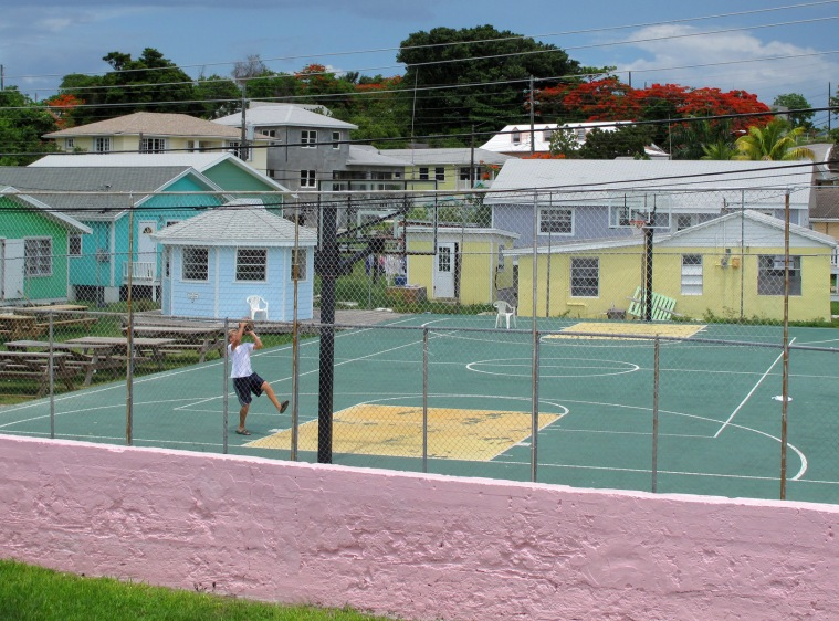 bahamas, green turtle cay, abaco, basketball