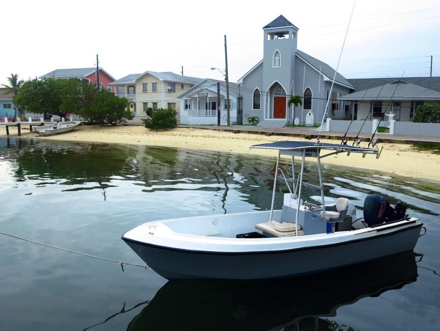 bahamas, abaco, green turtle cay, boat