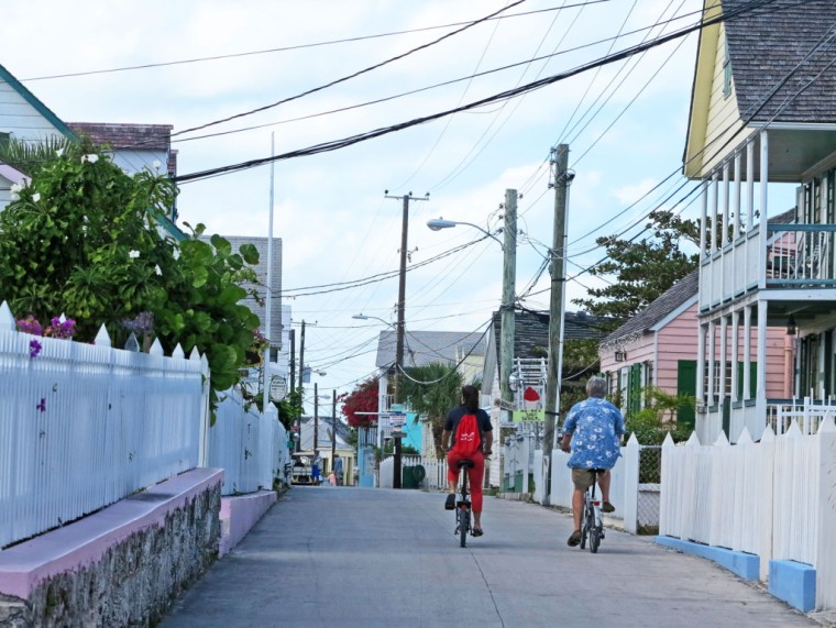 bahamas, abaco, green turtle cay, bicycle, new plymouth