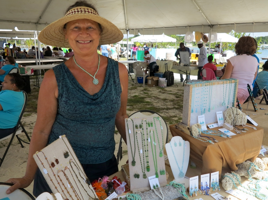 bahamas, abaco, green turtle cay, ginny the bead lady, sea glass, beading