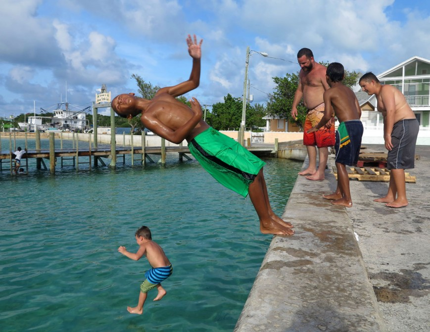 bahamas, abaco, green turtle cay, children