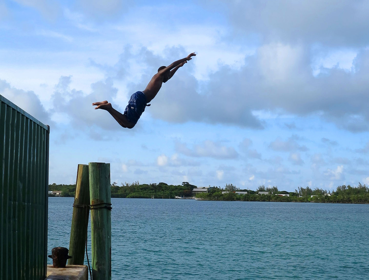 Diving from the Freight Dock -- Green Turtle Cay, Abaco, Bahamas