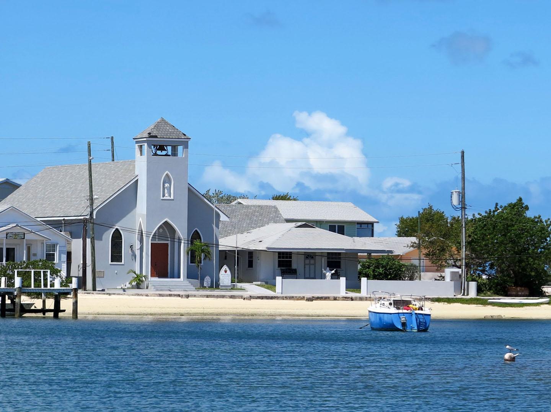 bahamas, abaco, green turtle cay, church