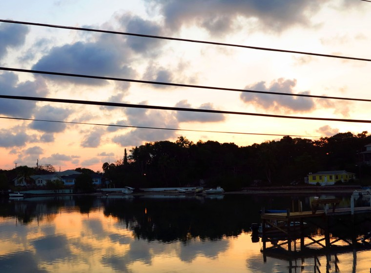 Sunrise over Settlement Creek - Green Turtle Cay, Abaco, Bahamas.
