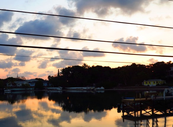 Sunrise over Settlement Creek - Green Turtle Cay, Abaco, Bahamas.