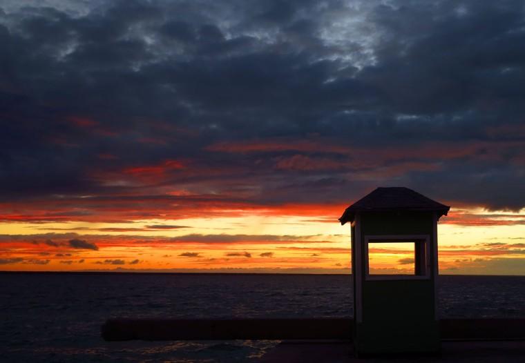 bahamas, abaco, green turtle cay, sunset