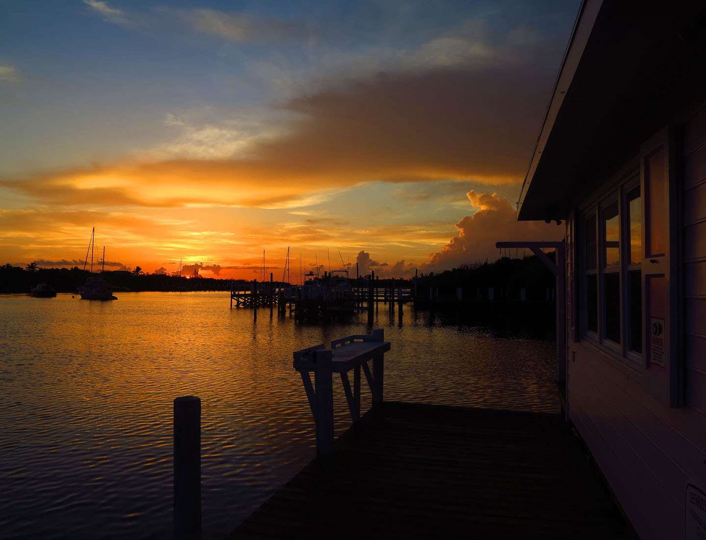 Sunset at Leeward Yacht Club, Green Turtle Cay, Bahamas