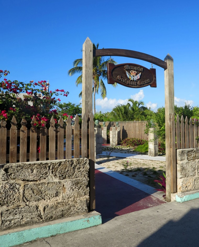 bahamas, abaco, green turtle cay, sculpture garden