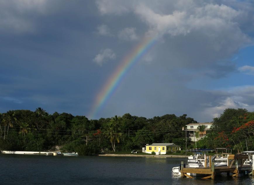 bahamas, abaco, green turtle cay, rainbow