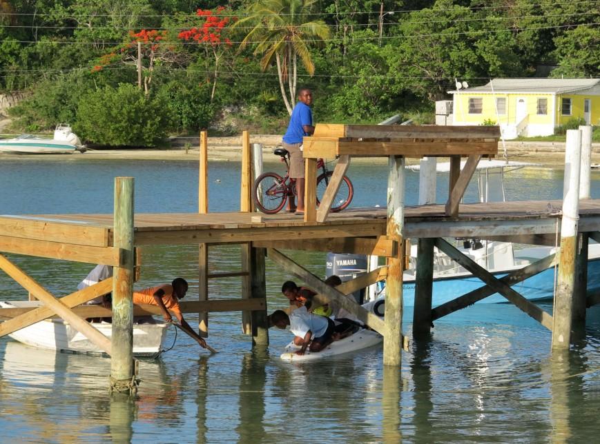 Local Boys Playing, Green Turtle Cay, Bahamas