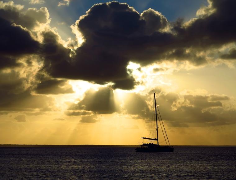 bahamas, abaco, green turtle cay, sunset, boating, sailboat