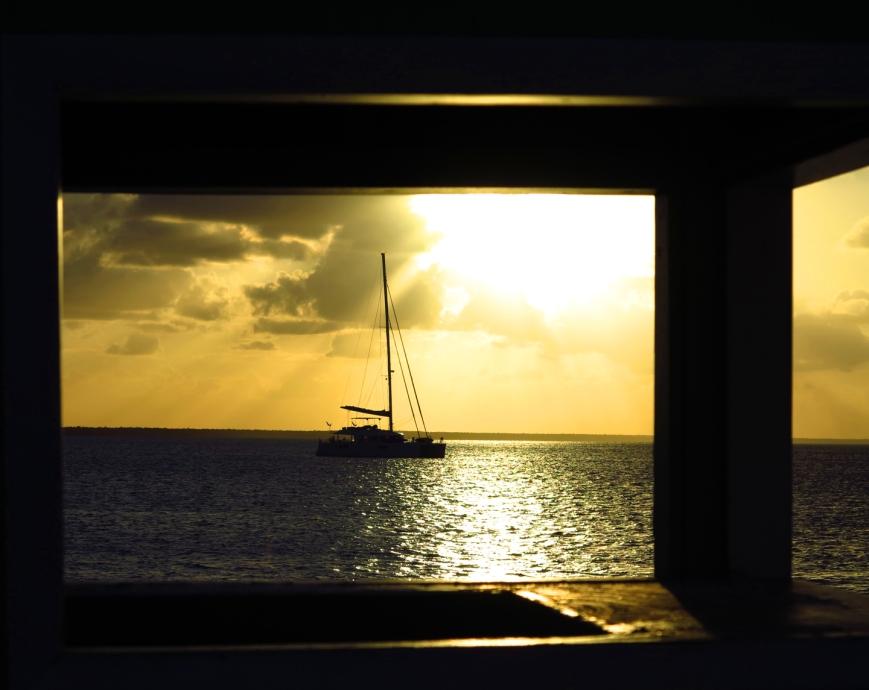 bahamas, abaco, green turtle cay, sailing, sunset