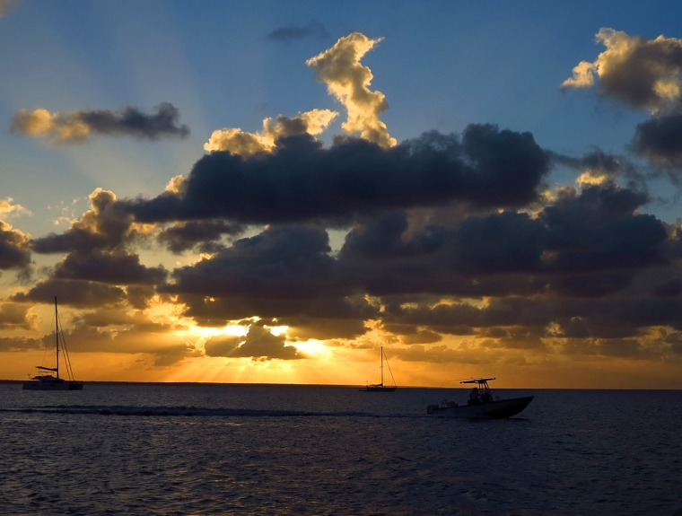 Sunset at Green Turtle Cay, Bahamas