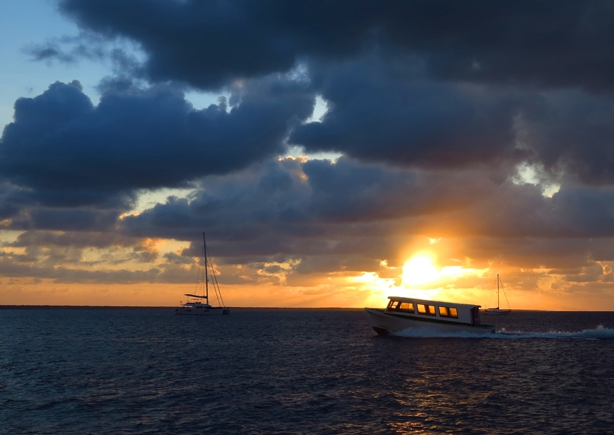 Green Turtle Cay Ferry at Sunset