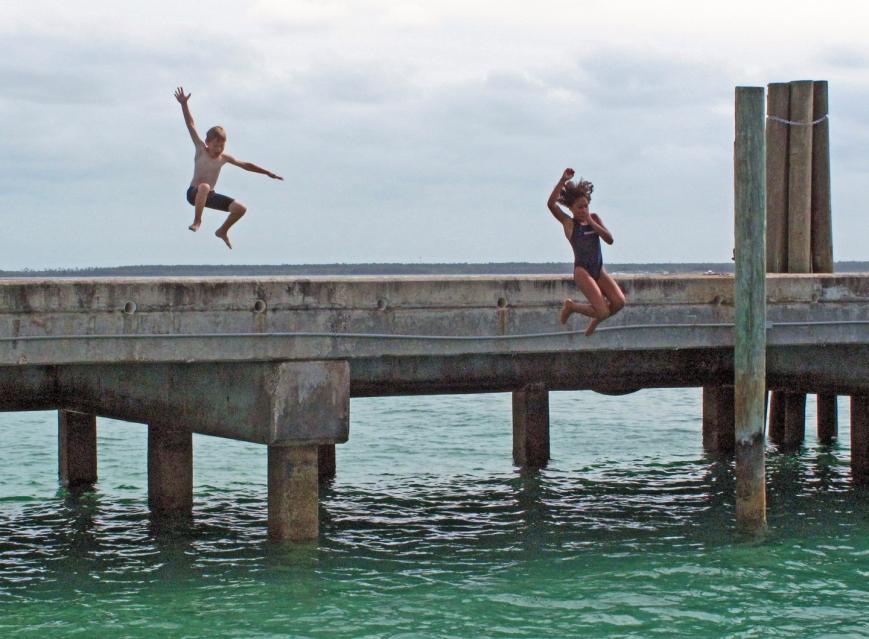 bahamas, abaco, green turtle cay, children