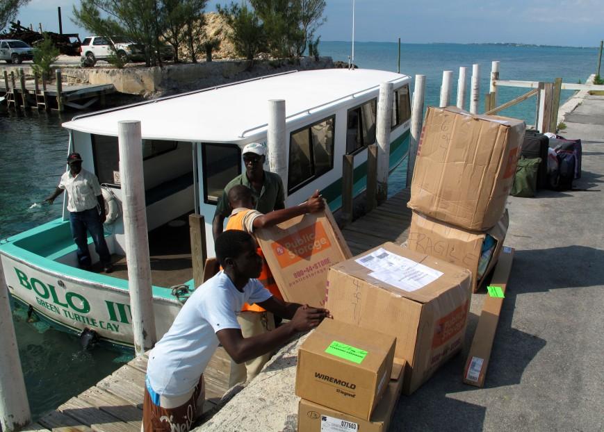 bahamas, abaco, green turtle cay, treasure cay, ferry