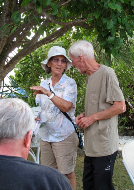 Arelia Albury and Jack Hardy of the Abaco Horticultural Society