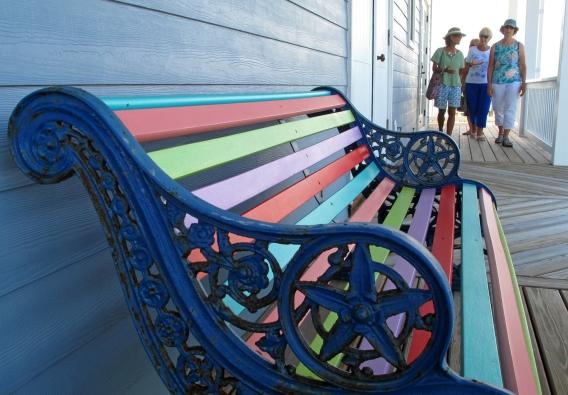 Colourful bench at Papillon
