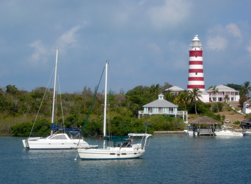 bahamas, abaco, hope town, elbow cay, lighthouse