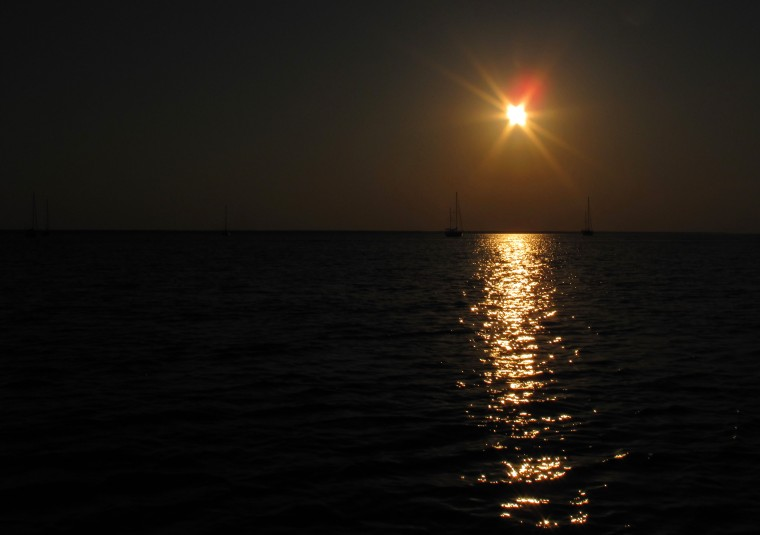 Sunset over the Sea of Abaco - Green Turtle Cay, Bahamas